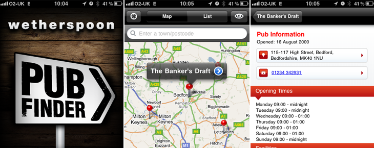 App finds venues by user's location or any location related search term
