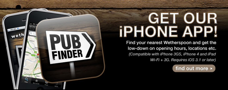J D Wetherspoon iPhone App