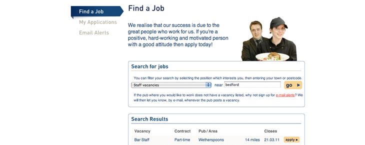 Wetherspoon Jobs Search